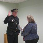 Clerk swearing Chief Madden in